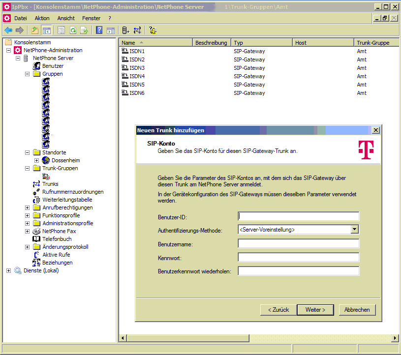 Screenshot der Swyx-Software